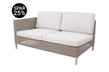 Cane-line Connect 2 pers. sofa m/hynder - Højre - Taupe