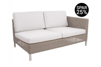 Cane-line Connect 2 pers. sofa m/hynder - Venstre - Taupe