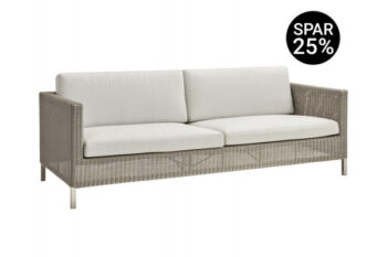 Cane-line Connect 3 pers. sofa m/hynder - Taupe/White