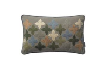 Cotton Four-Clover Happiness pude i farven army fra Cozy Living